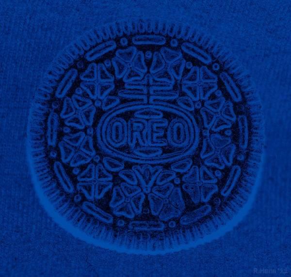 Nabisco Photograph - O R E O In Blue by Rob Hans