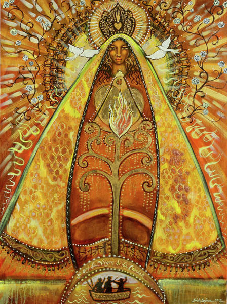 Wall Art - Painting - Yo Soy Virgin De La Caridad by Shiloh Sophia McCloud