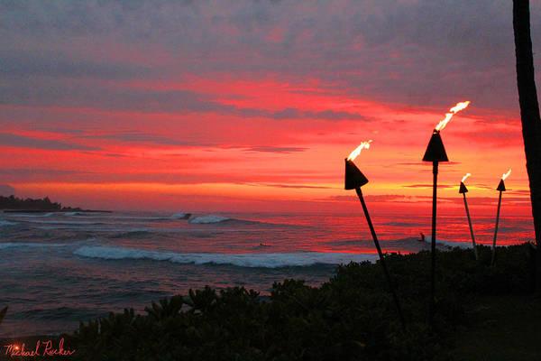 Ocean Sunrise Wall Art - Photograph - Oahu -hawaii by Michael Rucker