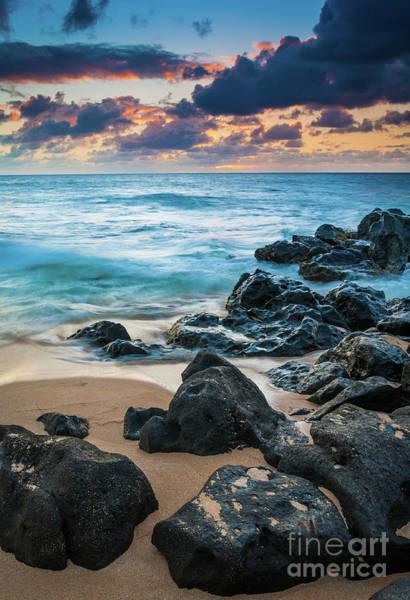 Photograph - Oahu Sunset Beach by Inge Johnsson