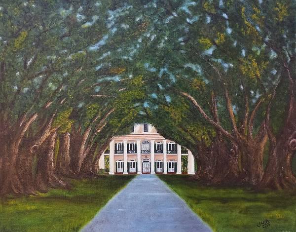 Wall Art - Painting - Oak Alley Plantation by Judy Jones