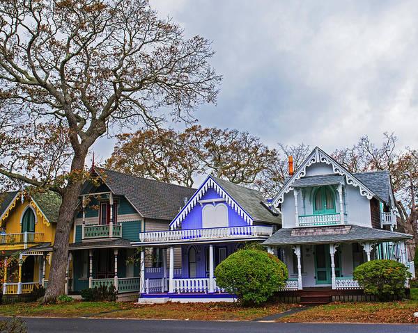 Photograph - Oak Bluffs Cottages Martha's Vineyard Ma Cape Cod by Toby McGuire