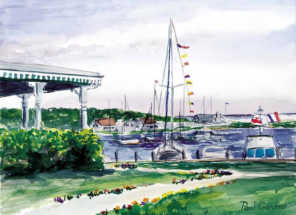 Bluffs Painting - Oak Bluffs Harbor by Paul Gardner