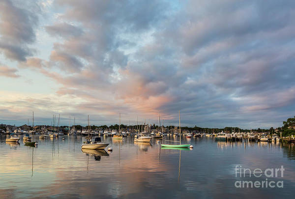 Photograph - Oak Bluffs Harbor Sunrise I by Clarence Holmes
