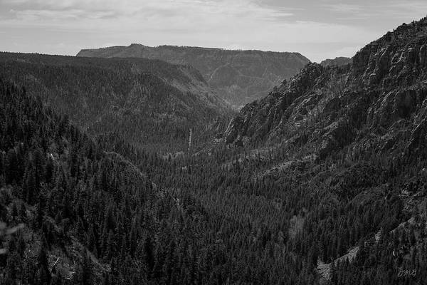 Photograph - Oak Creek Canyon Overlook II Bw by David Gordon
