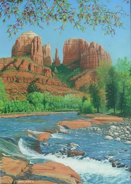 Oak Creek Canyon Painting - Oak Creek Canyon, Sonoma, Arizona by Michael Winston