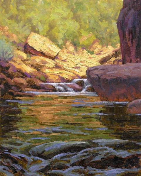 Wall Art - Painting - Oak Creek Tributary by Cody DeLong