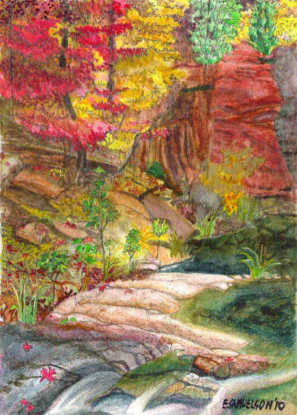 Painting - Oak Creek West Fork by Eric Samuelson