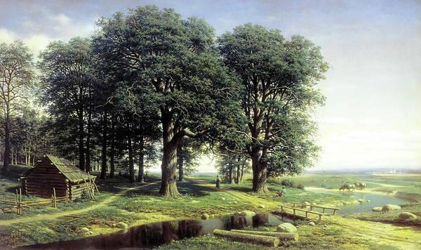 Tretyakov Gallery Painting - Oak Grove by MotionAge Designs