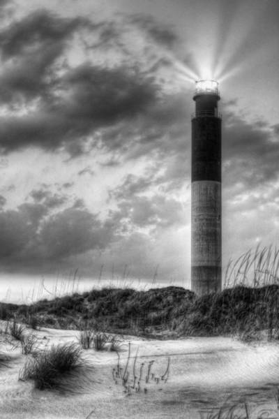 Coast Guard House Photograph - Oak Island In Black And White by JC Findley