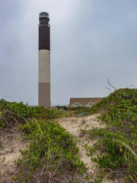 Brick House Mixed Media - Oak Island Lighthouse by Capt Gerry Hare