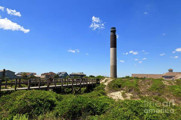 Photograph - Oak Island Lighthouse In North Carolina by Jill Lang