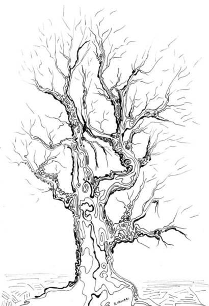 Painting - Oak Tree Abstract Study by Regina Valluzzi