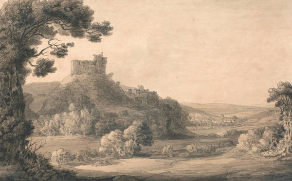 Drawing - Oakhampton Castle by Francis Towne