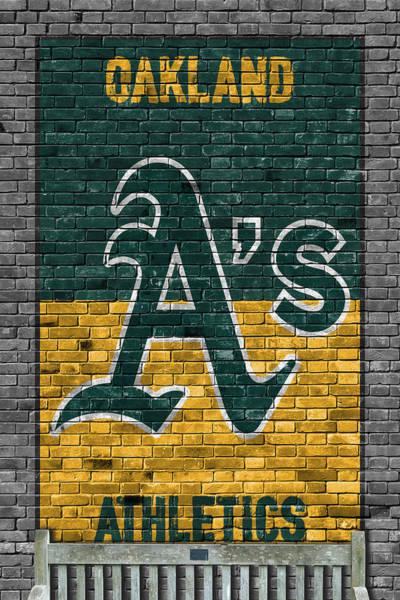 Athletics Painting - Oakland Athletics Brick Wall by Joe Hamilton
