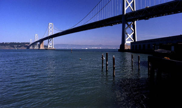 Photograph - Oakland Bay Bridge 1985 by Lee Santa