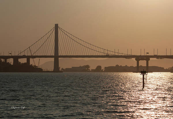 Wall Art - Photograph - Oakland Bay Bridge by Suzanne Gaff