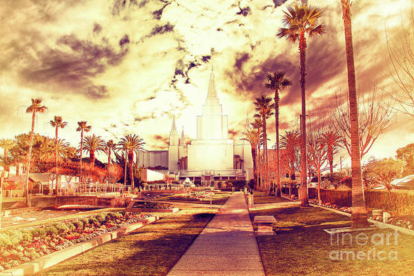 Photograph - Oakland California Temple The Church Of Jesus Christ Of Latter D by Wingsdomain Art and Photography