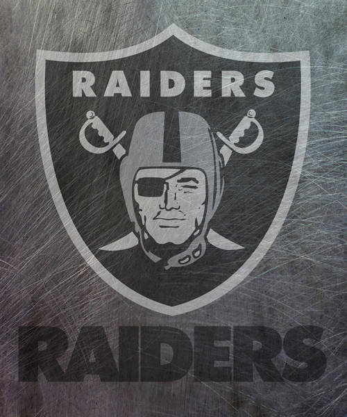 Mixed Media - Oakland Raiders Translucent Steel by Movie Poster Prints