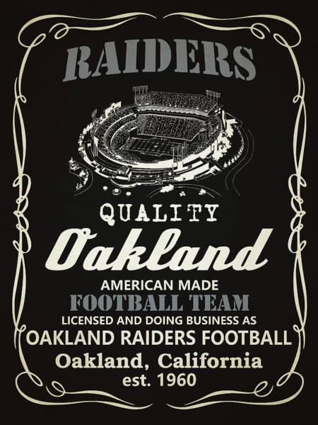 Iphone 4s Wall Art - Painting - Oakland Raiders Whiskey by Joe Hamilton