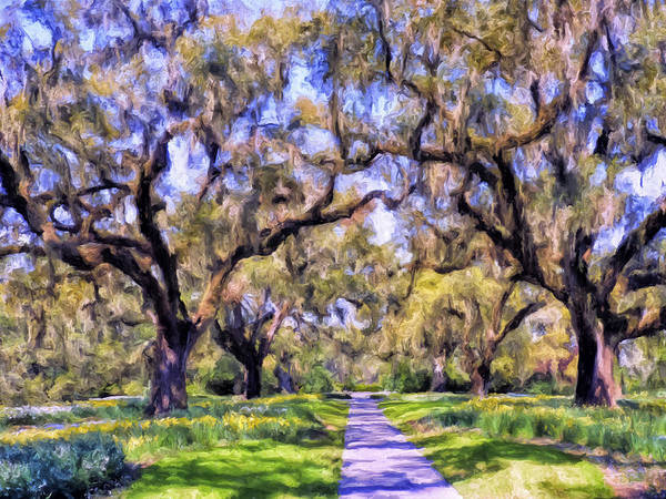 Alabama Painting - Oaks And Spanish Moss by Dominic Piperata