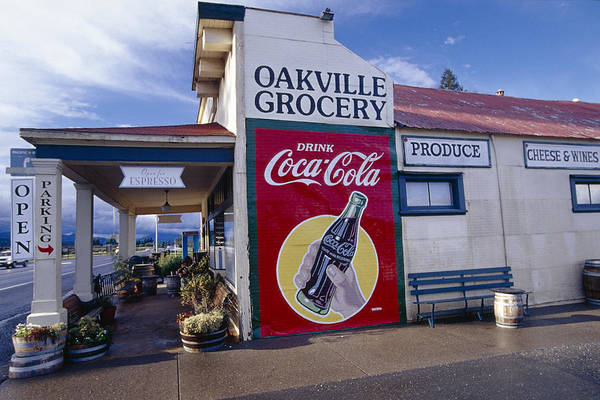 Delicatessen Photograph - Oakville Grocery Store Napa Valley by George Oze