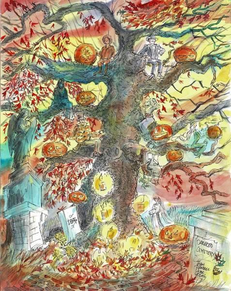 Angel Oak Painting - Oakwood Cemetery Stories By Texas Watercolorist John York by John York