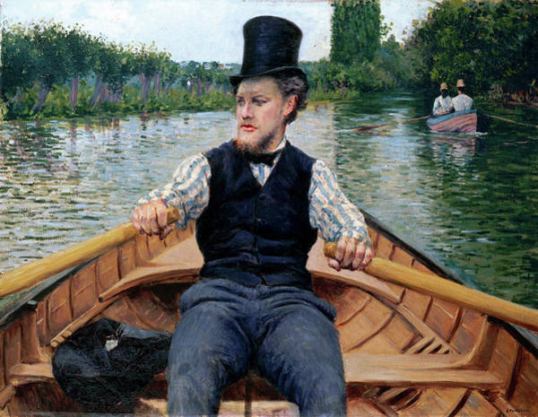 Wall Art - Painting - Oarsman In A Top Hat by Gustave Caillebotte
