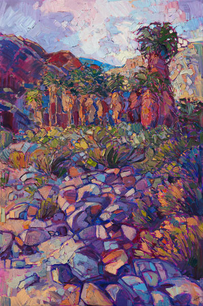 Wall Art - Painting - Oasis Boulders by Erin Hanson