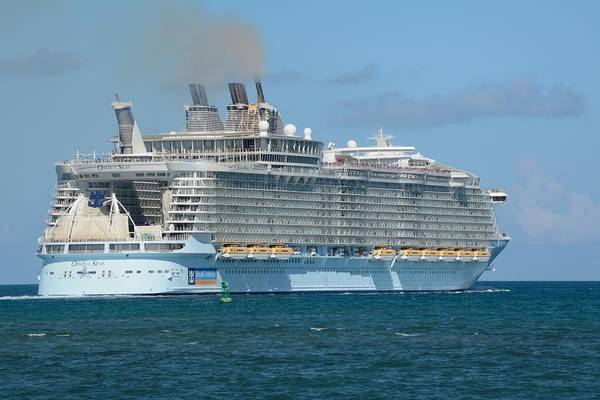 Photograph - Oasis Of The Seas Heads Offshore. by Bradford Martin