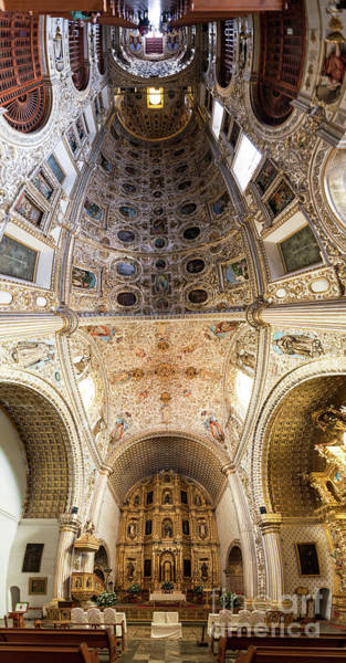 Wall Art - Photograph - Oaxaca Church Interior Panorama by Jess Kraft