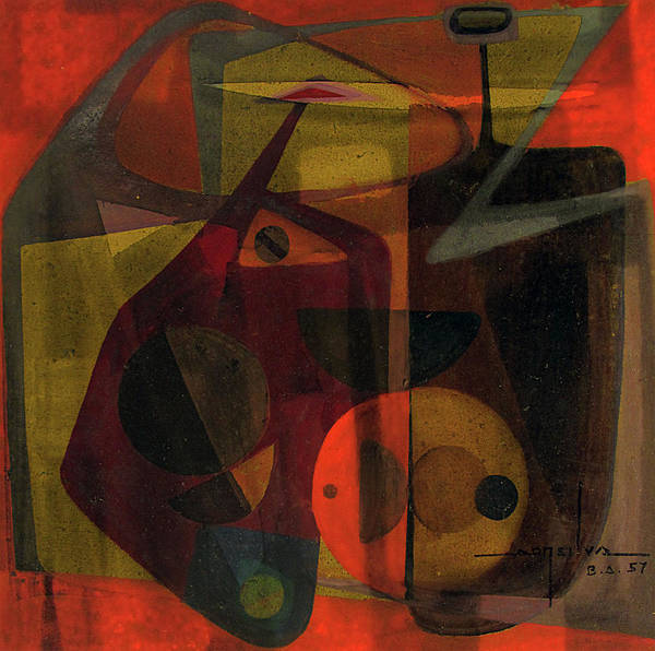 Bolivia Painting - Ob1957ar001ba Allegory Of Tension 10.5x10 by Alfredo Da Silva