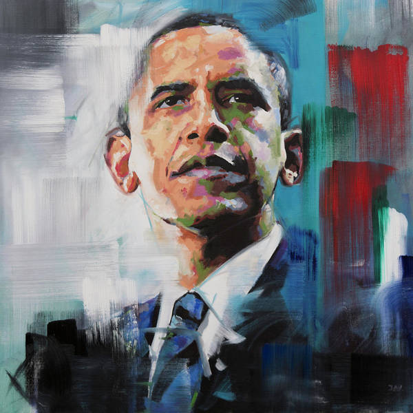Obama Painting - Obama by Richard Day