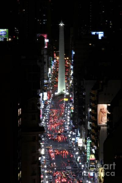 Photograph - Obelisk At Night by Balanced Art