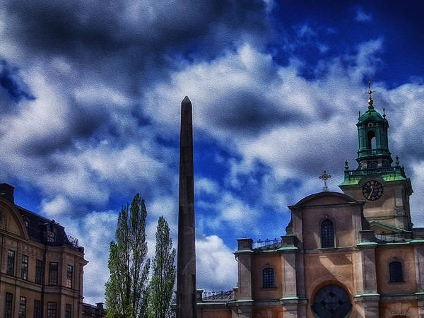 Wall Art - Photograph - Obelisk In Gamla Stan by Ramon Martinez