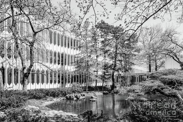Conservatory Photograph - Oberlin College Conservatory Of Music Pond by University Icons