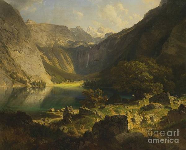 Bavarian Alps Painting - Obersee Bavarian Alps by MotionAge Designs
