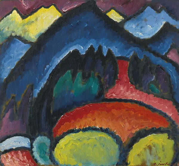 Munich Painting - Oberstdorf - Mountains by Alexej von Jawlensky