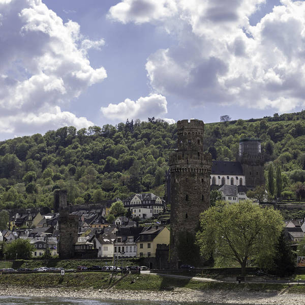 Wall Art - Photograph - Oberwesel Fortification Tower Squared by Teresa Mucha