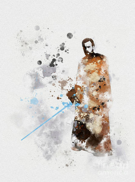 Wall Art - Mixed Media - Obi-wan Kenobi by My Inspiration