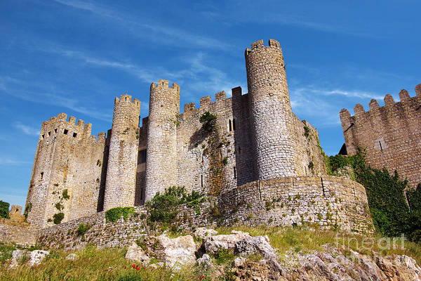 Stone Wall Wall Art - Photograph - Obidos Castle by Carlos Caetano