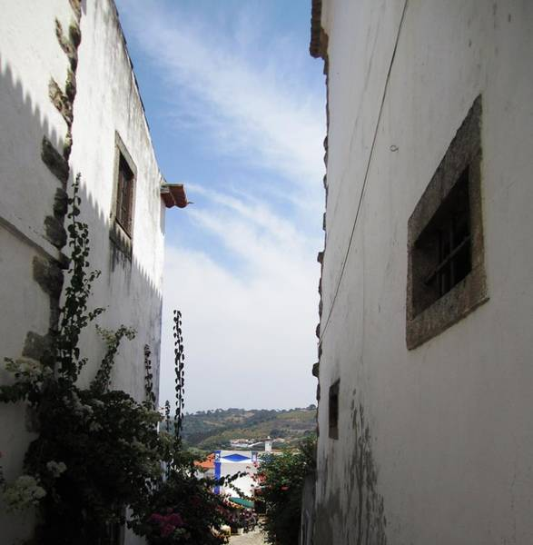 Photograph - Obidos Side View Portugal by John Shiron