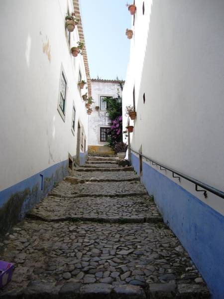 Photograph - Obidos Stone Walkway I Portugal by John Shiron