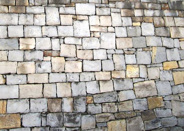 Photograph - Obidos Stone Wall Portugal by John Shiron