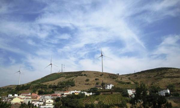 Photograph - Obidos Wind Turbine Portugal by John Shiron