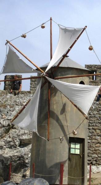 Photograph - Obidos Windmill II Portugal by John Shiron