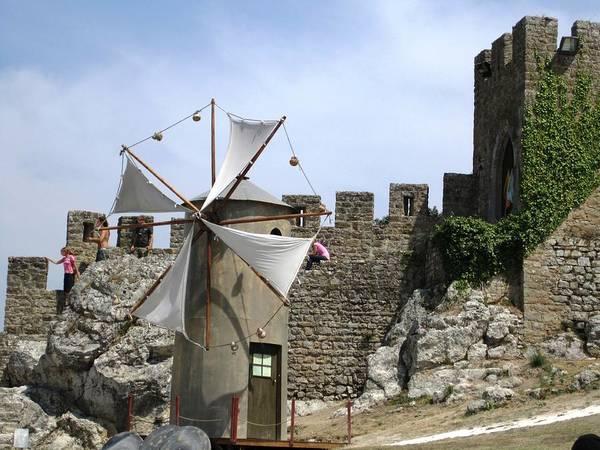 Photograph - Obidos Windmill Portugal by John Shiron