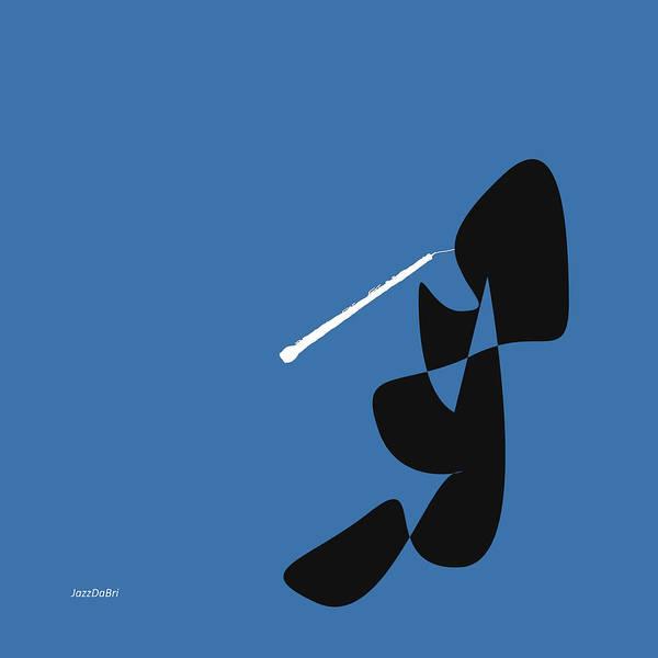 Digital Art - Oboe In Blue by David Bridburg