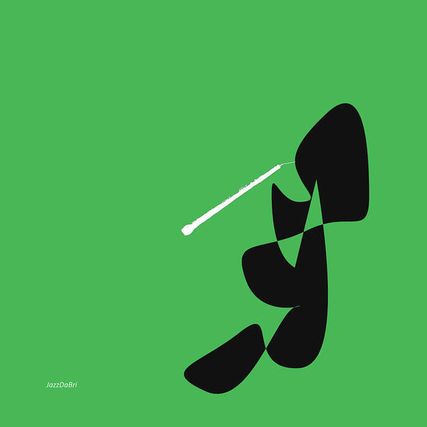 Digital Art - Oboe In Green by David Bridburg