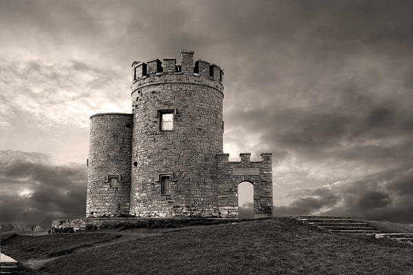 Moher Photograph - O'brien's Tower At The Cliffs Of Moher Ireland by Pierre Leclerc Photography